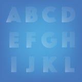 Ray allinea l'alfabeto Immagini Stock