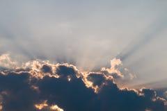 Ray av ljus Arkivbilder