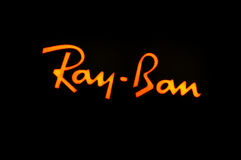 Ray Ban logo Stock Photos