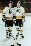 Ray Bourque en Mike Milbury, Boston Bruins Royalty-vrije Stock Fotografie