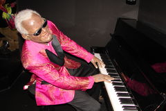 Ray Charles no Musée Grevin Foto de Stock