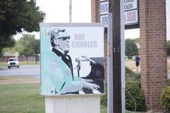 Ray Charles Street Art fotos de stock
