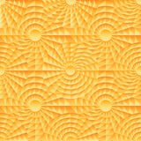 Ray circle symmetry orange seamless pattern Stock Image