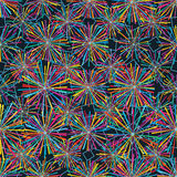 Ray colorful star diamond shape seamelss pattern Stock Images