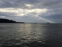 Ray de luz no navio Fotografia de Stock