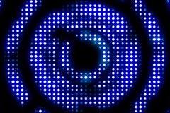 Ray den blåa metalliska öglascirkeln för tappning med ljus reflex och blått vektor illustrationer
