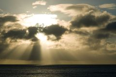Ray des Lichtes Stockbild