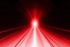 Ray des Lichtzusammenfassungshintergrundes - Rot auf Schwarzem Lizenzfreie Stockbilder