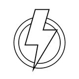 Ray electricity symbol Stock Photography