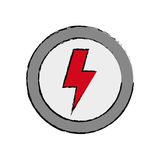 Ray electricity symbol Royalty Free Stock Photography