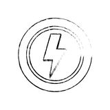 Ray electricity symbol Stock Image