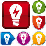 Ray energy icon. Vector ray energy icon on different buttons Royalty Free Stock Photo