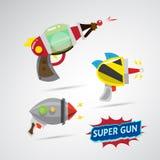 Ray gun cartoon. supergun. -  Royalty Free Stock Image