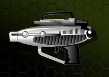 Ray Gun. Vector illustration of a silver ray gun Royalty Free Stock Photo