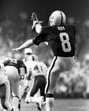 Ray Guy. Oakland Raiders punter Ray Guy, #8.  (Image taken from B&W negative Stock Photography