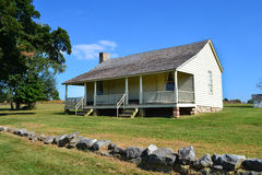 Ray House at Pea Ridge National Military Park. The Ray house is an original building situated along the old telegraph (wire) road at Wilson's Creek National Royalty Free Stock Image