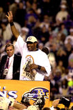 Ray Lewis. Baltimore Ravens LB Ray Lewis after winning SB XXXV.  (Image from a color slide Royalty Free Stock Photography
