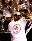 Ray Lewis. Baltimore Ravens LB Ray Lewis after winning SB XXXV.  (Image from a color slide Royalty Free Stock Photos