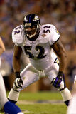 Ray Lewis no Super Bowl XXXV foto de stock royalty free