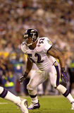 Ray Lewis in Super Bowl XXXV. Baltimore Ravens LB Ray Lewis Royalty Free Stock Image