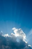 Ray of light. Nice cloudscape with rays of light from the sun Royalty Free Stock Photo