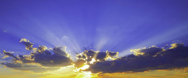 Ray of light. The ray of light during sunset Royalty Free Stock Image