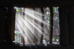 Ray of light. In window Stock Photos