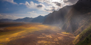 Ray Light al parco nazionale di Bromo Tengger Semeru Immagini Stock