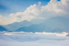 Ray of light , cloud and mountain Stock Image