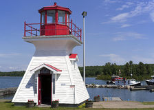 Ray of Light Lighthouse - St. Joseph Island, Ontario Stock Image