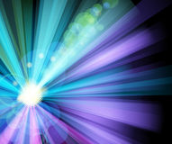 Ray light party banner stock illustration