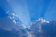 Ray of lights. Through the clouds stock photography