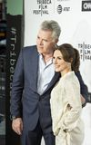 Ray Liotta and Silvia Lombardo Arrive for Opening Night at the 2017 Tribeca Film Festival Royalty Free Stock Photography