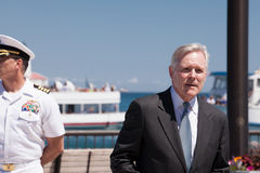 Ray Mabus at USS Illinois Naming Ceremony royalty free stock image