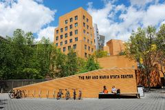 Ray and Maria Stata Center on the campus of MIT. Ray and Maria Stata Center on the campus of MIT May 16, 2019 in Boston, MA. The academic complex was designed royalty free stock photos
