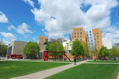Ray and Maria Stata Center on the campus of MIT. Ray and Maria Stata Center on the campus of MIT May 16, 2019 in Boston, MA. The academic complex was designed royalty free stock images