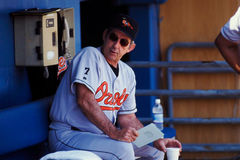 Ray Miller, Baltimore Orioles Royalty-vrije Stock Foto's