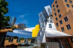 Ray och Maria Stata Center på universitetsområdet av MIT royaltyfri bild