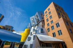 Ray och Maria Stata Center på universitetsområdet av MIT royaltyfri foto