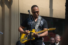 Ray Parker Jr honored  on the Hollywood Walk of Fame Royalty Free Stock Photos