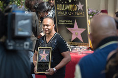 Ray Parker Jr honored  on the Hollywood Walk of Fame Stock Photography