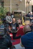 Ray Parker Jr honored  on the Hollywood Walk of Fame Royalty Free Stock Images