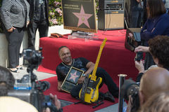 Ray Parker Jr honored  on the Hollywood Walk of Fame Royalty Free Stock Image
