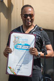 Ray Parker Jr honored  on the Hollywood Walk of Fame Stock Photos