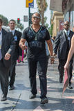 Ray Parker Jr walking on the Hollywood Walk of Fame Royalty Free Stock Image