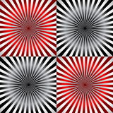 Ray pattern black & yellow & red background Royalty Free Stock Images