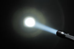 Ray of pocket flashlight Royalty Free Stock Photo