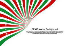 Ray radial do vermelho, o verde e o branco com efervescência stars o fundo do vetor Fotografia de Stock