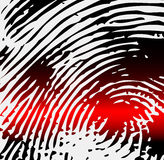 Ray scanner scan fingerprint. Vector illustration close-up Stock Photography