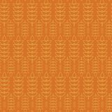 Ray Spike Plant Seamless Pattern Abstract-Meetkundeontwerp Oktoberfest Royalty-vrije Stock Afbeelding